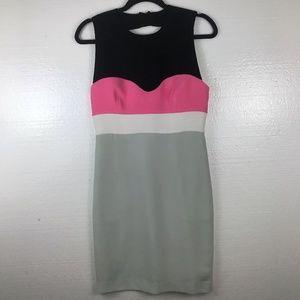 DVF Diane Von Furstenberg Colorblock Sheath Dress